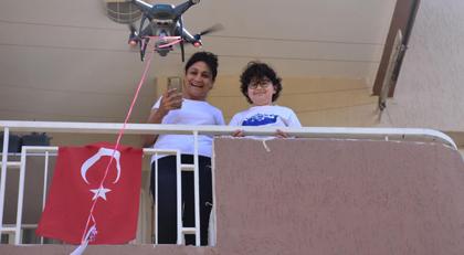 Dronla gelen bayram harçlığı