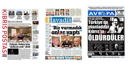 Kıbrıs gazetelerinde manşet Peker'in anlattığı cinayet