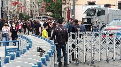 Taksim yine ablukada