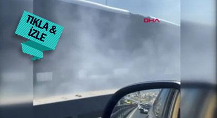 Metrobüsten bir anda dumanlar yükseldi