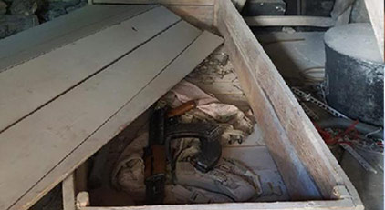 Odatv camide bulunan silahların peşine düştü: Silahları kim bıraktı