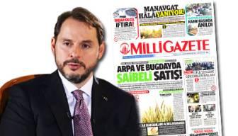 Milli Gazete'nin hedefinde Berat Albayrak var