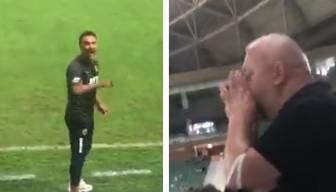 Maç sırasında Pereira ile taraftar arasında gergin anlar