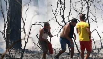 Yangın yeniden alevlendi