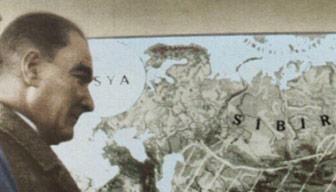 """Atatürk arkasındaki haritayı gösterip neden """"konuşamam"""" dedi"""