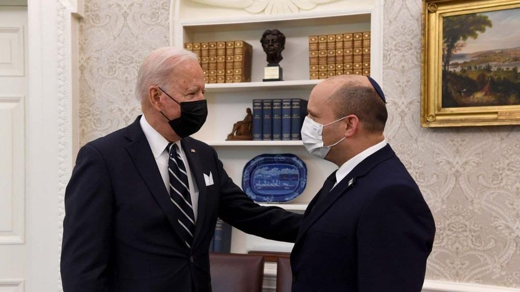 """ראש הממשלה נפתלי בנט נפגש עם נשיא ארה""""ב ג'ו ביידן"""