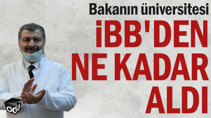 Bakanın üniversitesi İBB'den ne kadar aldı