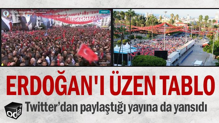 Mitingte Erdoğan'ı üzen tablo