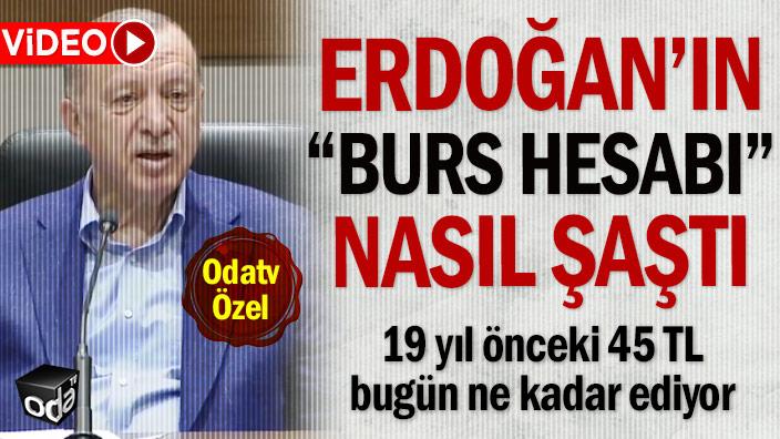 """Erdoğan'ın """"burs hesabı"""" nasıl şaştı: 19 yıl önceki 45 TL bugün ne kadar ediyor"""