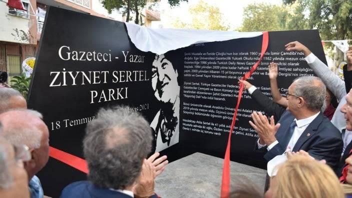 Ziynet Sertel'in adı parkta yaşayacak