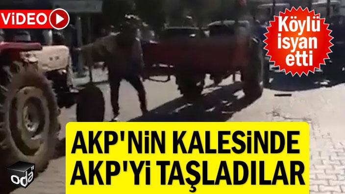 Köylü isyan etti: AKP'nin kalesinde AKP'yi taşladılar