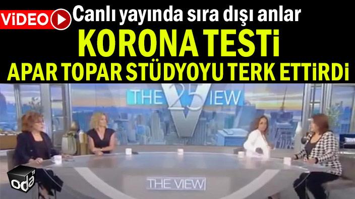 Canlı yayında sıra dışı anlar… Korona testi apar topar stüdyoyu terk ettirdi