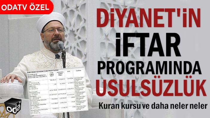 SAYIŞTAY RAPORU | Diyanet'in iftar programında usulsüzlük
