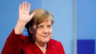 Merkel'i böyle uğurladılar