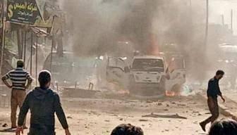 Afrin'de bomba yüklü araç infilak etti: Ölüler var
