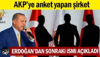 AKP'ye anket yapan şirket Erdoğan'dan sonraki ismi açıkladı