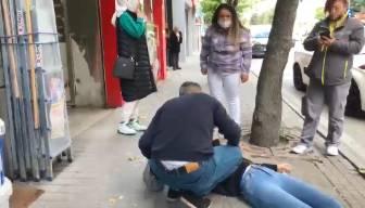 Sokak ortasında kadına şiddet... Serbest bırakıldı