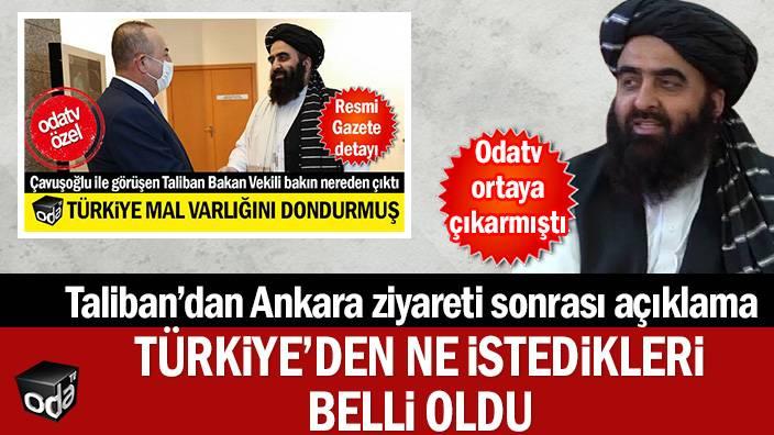 Taliban'dan Ankara ziyareti sonrası açıklama... Türkiye'den ne istedikleri belli oldu