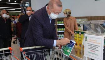 Erdoğan'ın alışveriş yaptığı markette peynir tartışması
