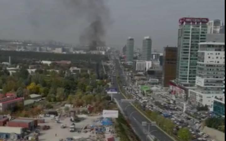 Ankara'da korkutan patlama... Patlama anı ortaya çıktı