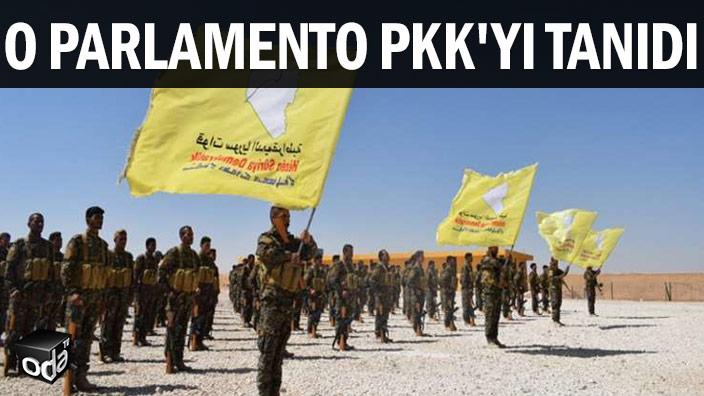O parlamento PKK'yı tanıdı