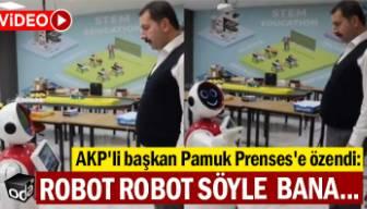 AKP'li başkan Pamuk Prenses'e özendi: Robot robot, söyle bana...
