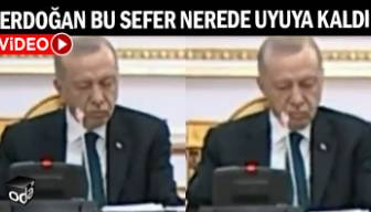 Erdoğan bu sefer nerede uyuyakaldı