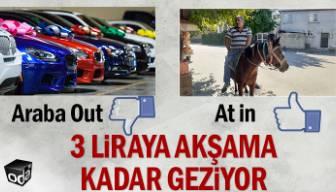 Arabasını sattı at aldı: 3 liraya akşama kadar geziyor