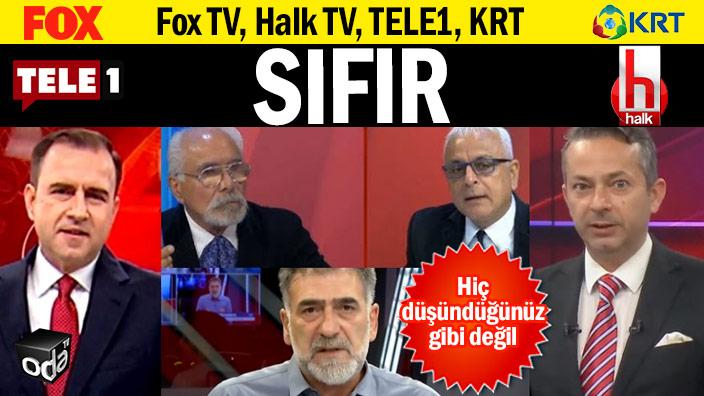 Fox TV, Halk TV, TELE1, KRT... Sıfır