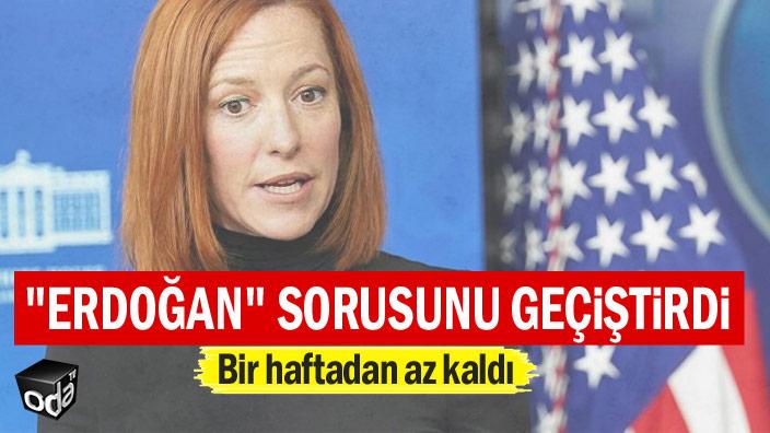 """""""Erdoğan"""" sorusunu geçiştirdi"""