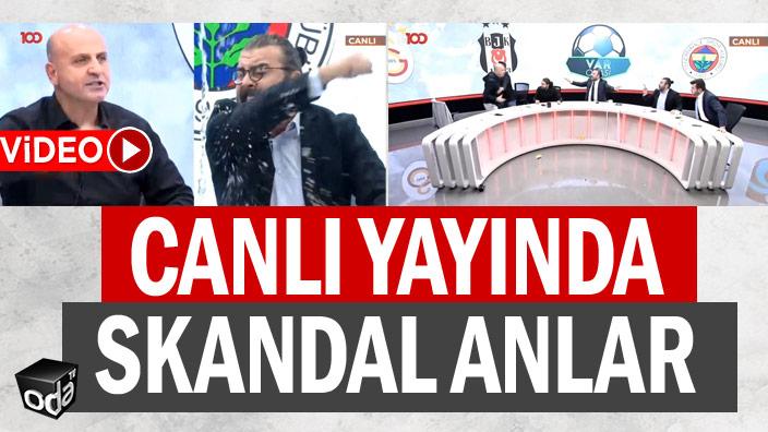 Canlı yayında skandal anlar