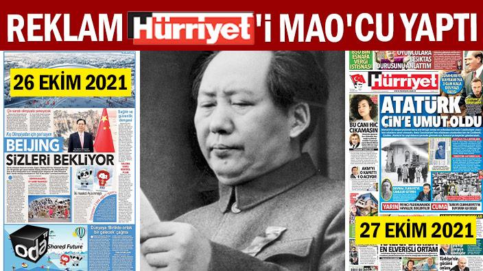 Reklam Hürriyet'i Mao'cu yaptı